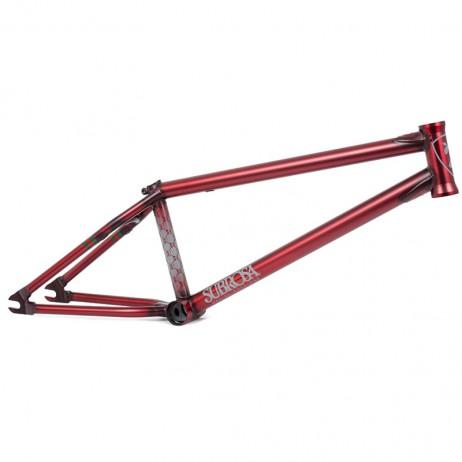 CADRE BMX SUBROSA MR1 SATIN TRANS RED ( MATT RAY )